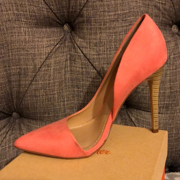 JustFab Shoes - Coral pointed toe pumps
